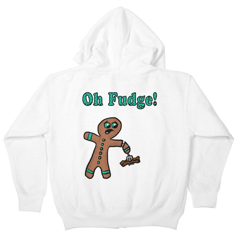 Oh Fudge Gingerbread Man Kids Zip-Up Hoody by ericallen's Artist Shop