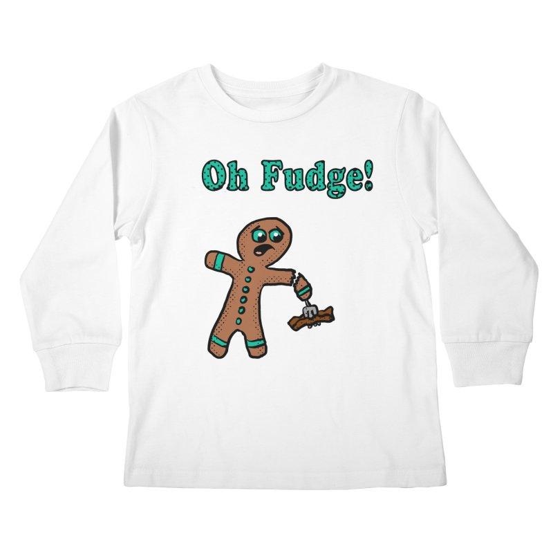 Oh Fudge Gingerbread Man Kids Longsleeve T-Shirt by ericallen's Artist Shop