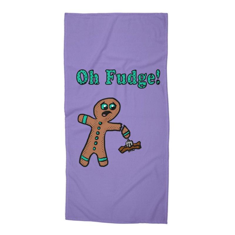 Oh Fudge Gingerbread Man Accessories Beach Towel by ericallen's Artist Shop