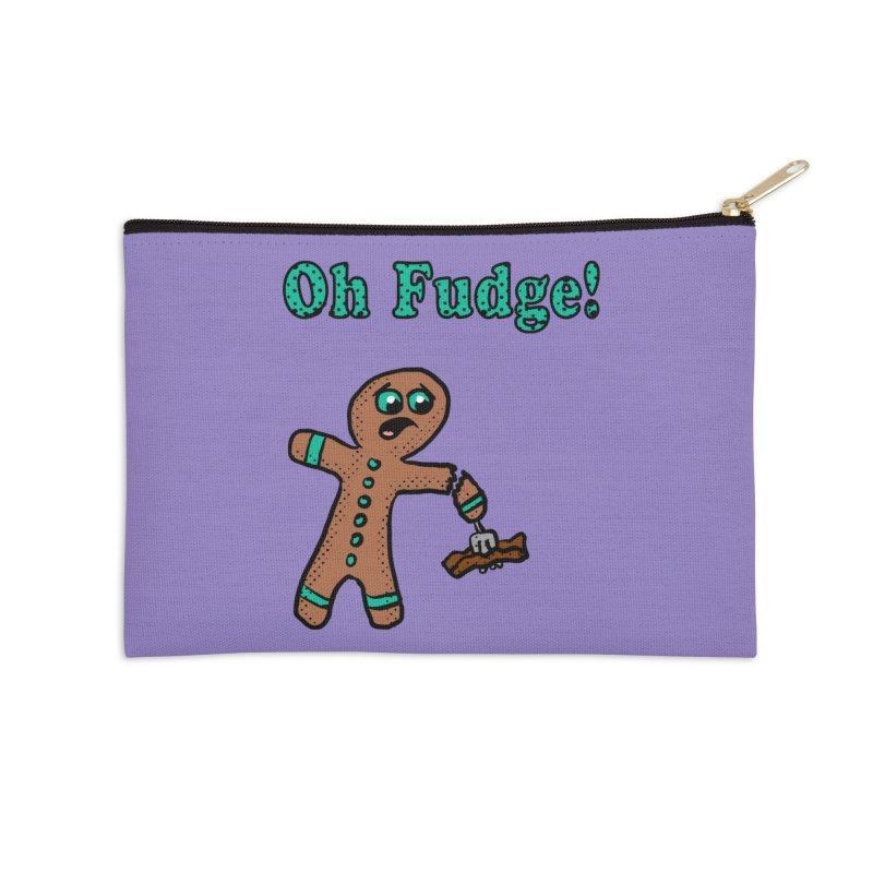 Oh Fudge Gingerbread Man Accessories Zip Pouch by ericallen's Artist Shop
