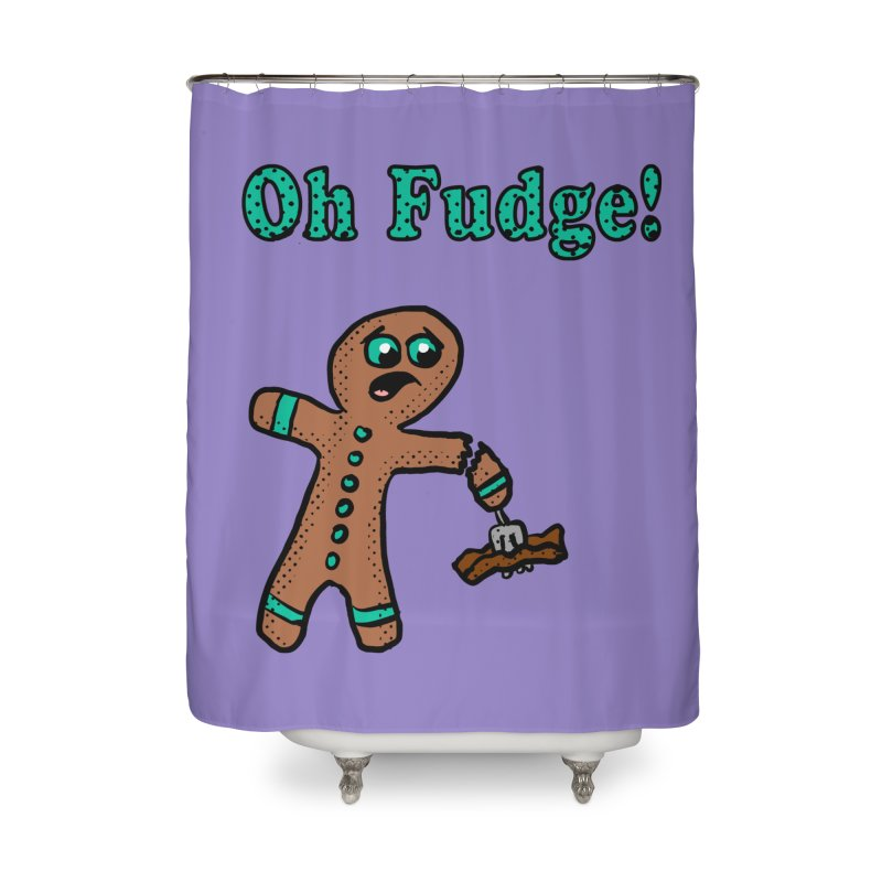 Oh Fudge Gingerbread Man Home Shower Curtain by ericallen's Artist Shop