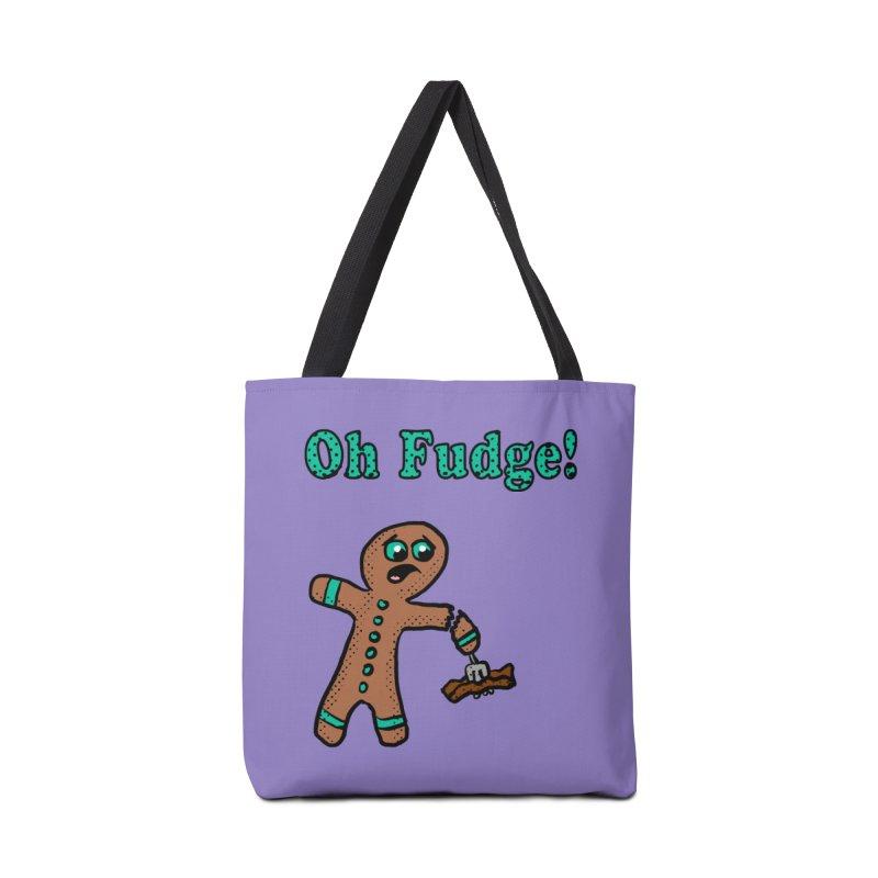 Oh Fudge Gingerbread Man Accessories Bag by ericallen's Artist Shop