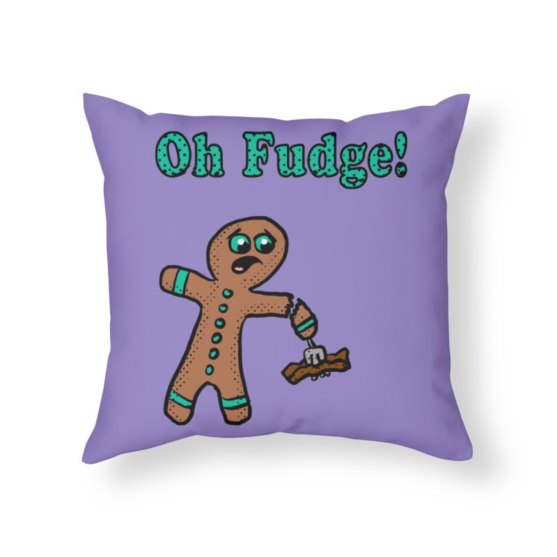 Oh Fudge Gingerbread Man Home Throw Pillow by ericallen's Artist Shop