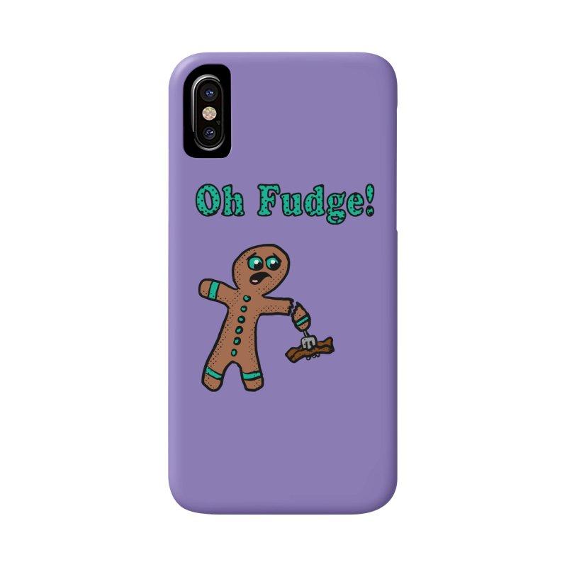Oh Fudge Gingerbread Man Accessories Phone Case by ericallen's Artist Shop