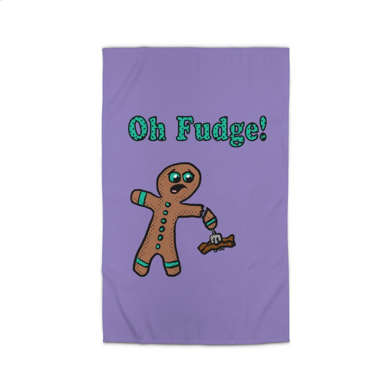 Oh Fudge Gingerbread Man Home Rug by ericallen's Artist Shop