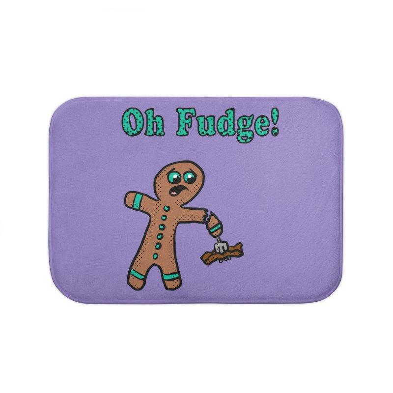 Oh Fudge Gingerbread Man Home Bath Mat by ericallen's Artist Shop
