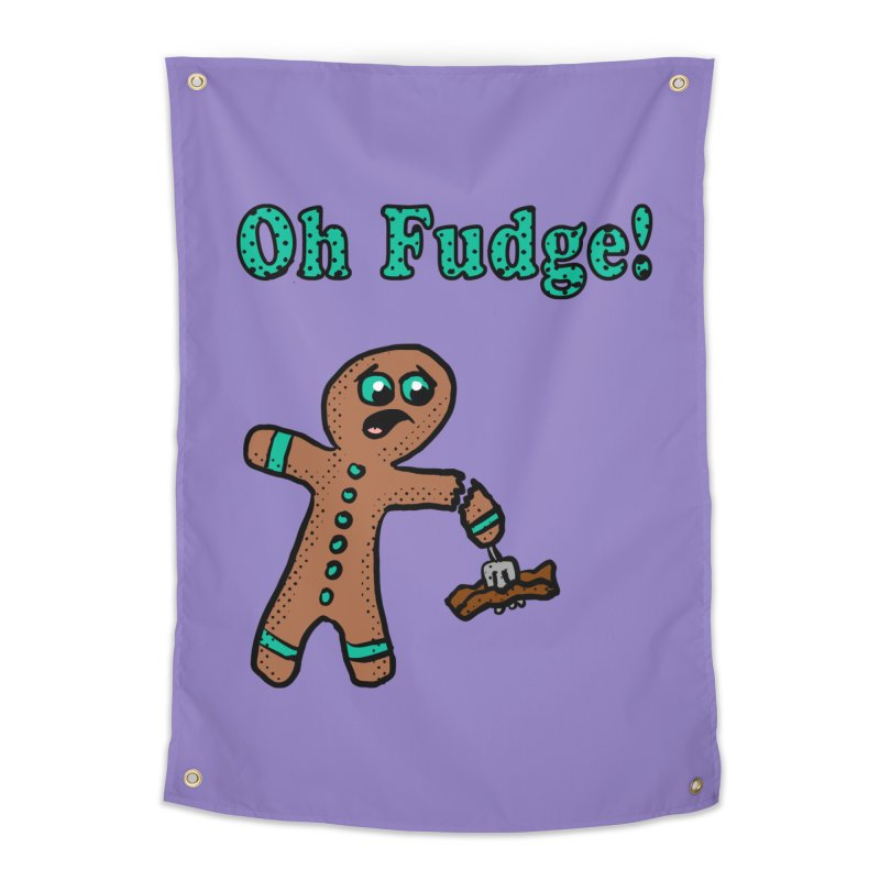 Oh Fudge Gingerbread Man Home Tapestry by ericallen's Artist Shop