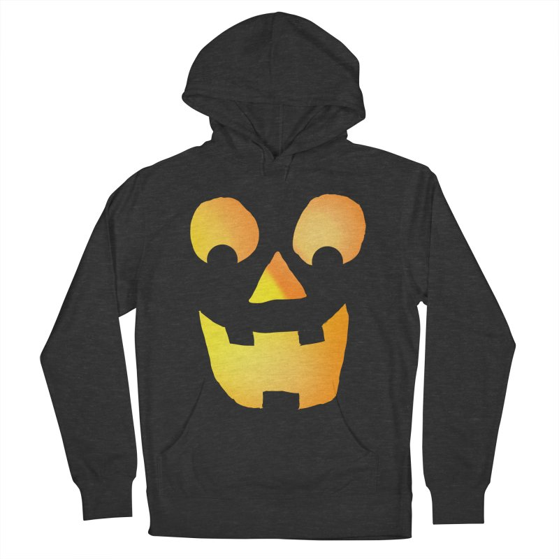 Glowing Jackolantern Face  Men's Pullover Hoody by ericallen's Artist Shop