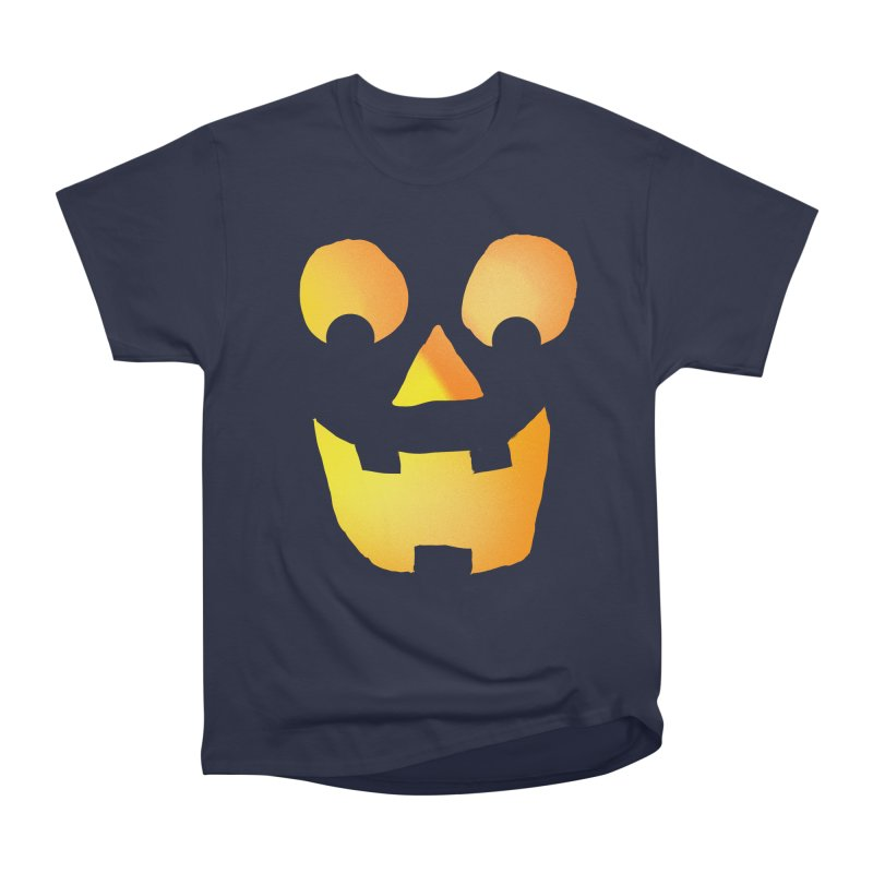 Glowing Jackolantern Face  Men's Classic T-Shirt by ericallen's Artist Shop