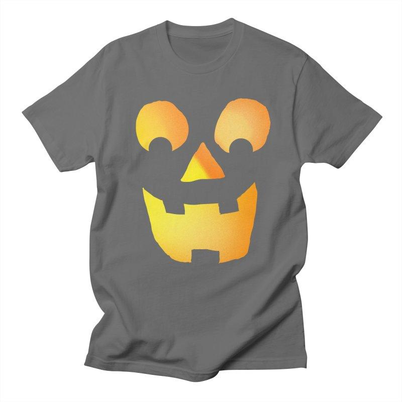 Glowing Jackolantern Face  Women's Unisex T-Shirt by ericallen's Artist Shop