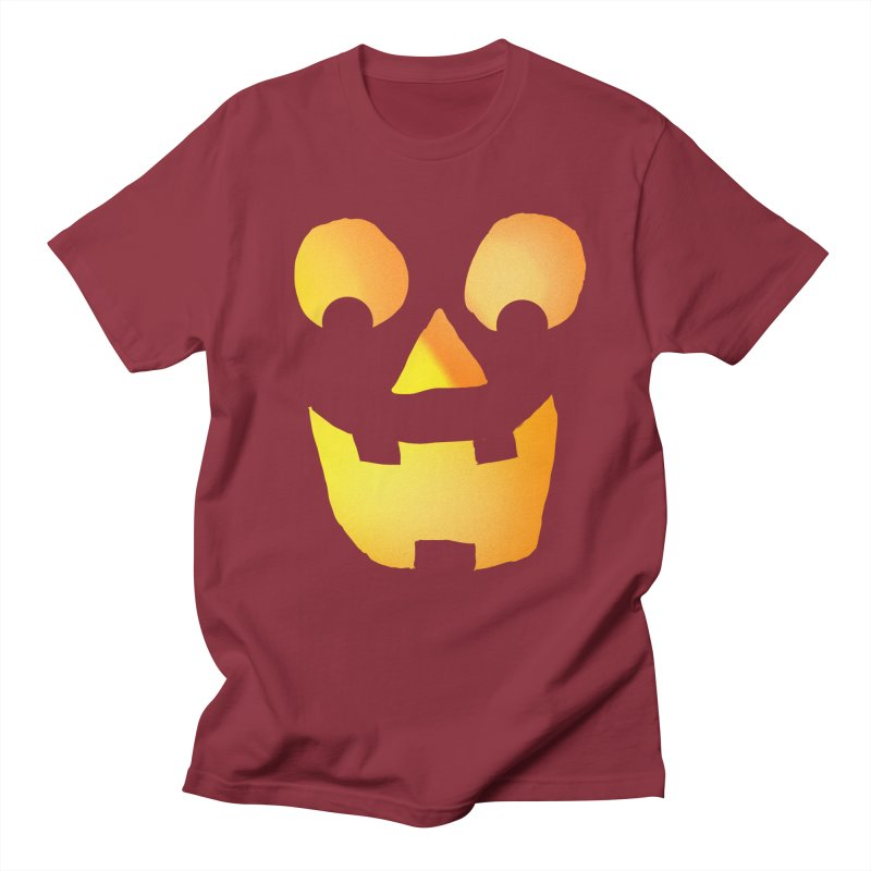 Glowing Jackolantern Face  Men's T-shirt by ericallen's Artist Shop