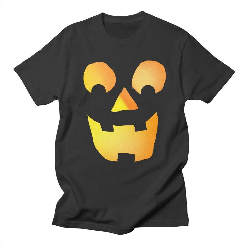 Glowing Jackolantern Face  in Men's T-shirt Smoke by ericallen's Artist Shop