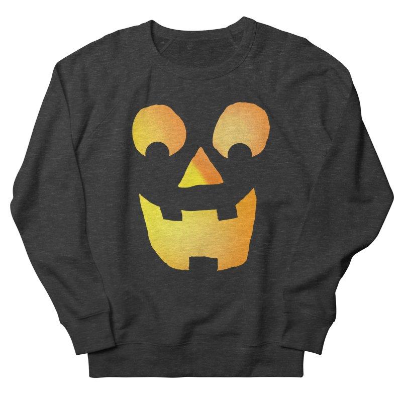 Glowing Jackolantern Face  Men's Sweatshirt by ericallen's Artist Shop