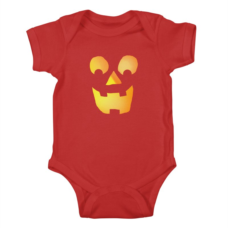 Glowing Jackolantern Face  Kids Baby Bodysuit by ericallen's Artist Shop