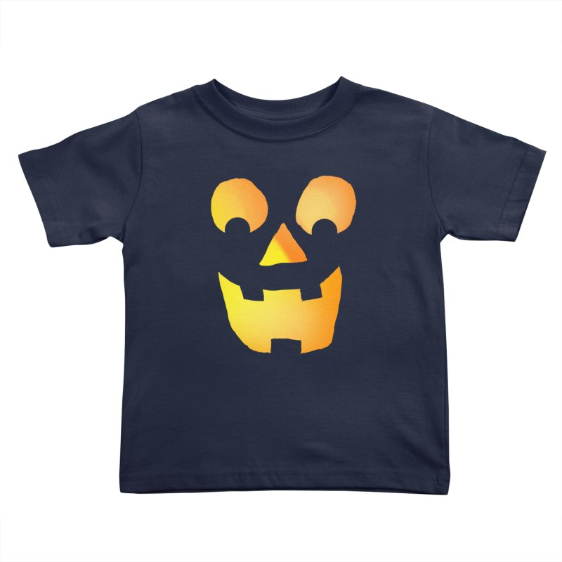 Glowing Jackolantern Face  Kids Toddler T-Shirt by ericallen's Artist Shop