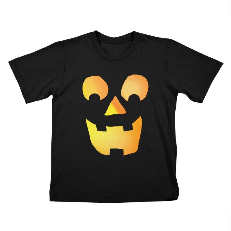 Glowing Jackolantern Face  Kids T-shirt by ericallen's Artist Shop