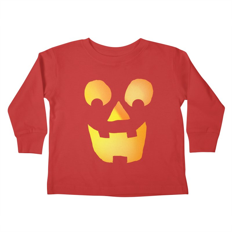 Glowing Jackolantern Face  Kids Toddler Longsleeve T-Shirt by ericallen's Artist Shop