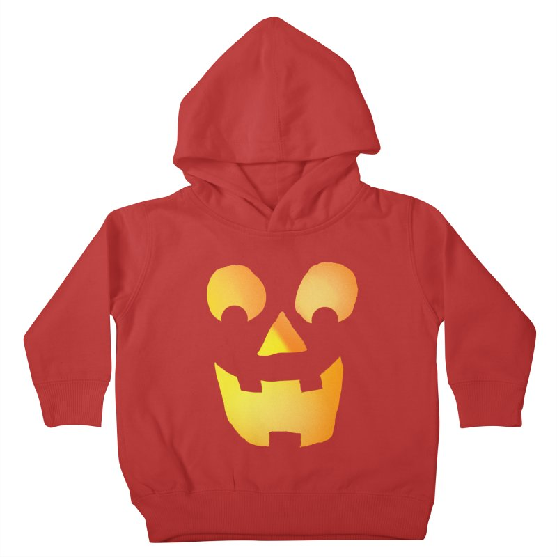 Glowing Jackolantern Face  Kids Toddler Pullover Hoody by ericallen's Artist Shop