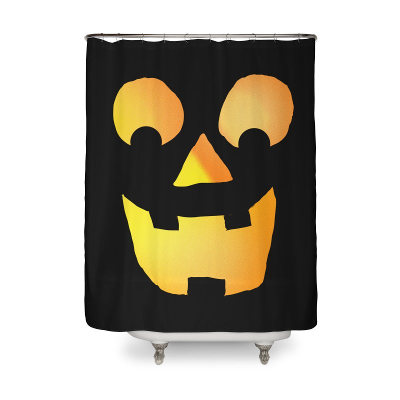 Glowing Jackolantern Face  Home Shower Curtain by ericallen's Artist Shop