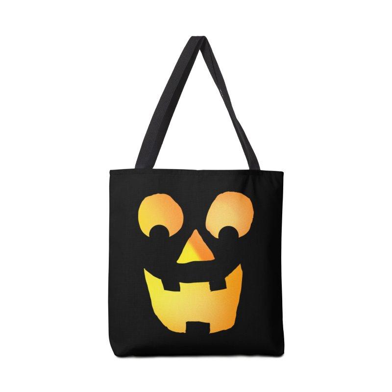Glowing Jackolantern Face  Accessories Bag by ericallen's Artist Shop
