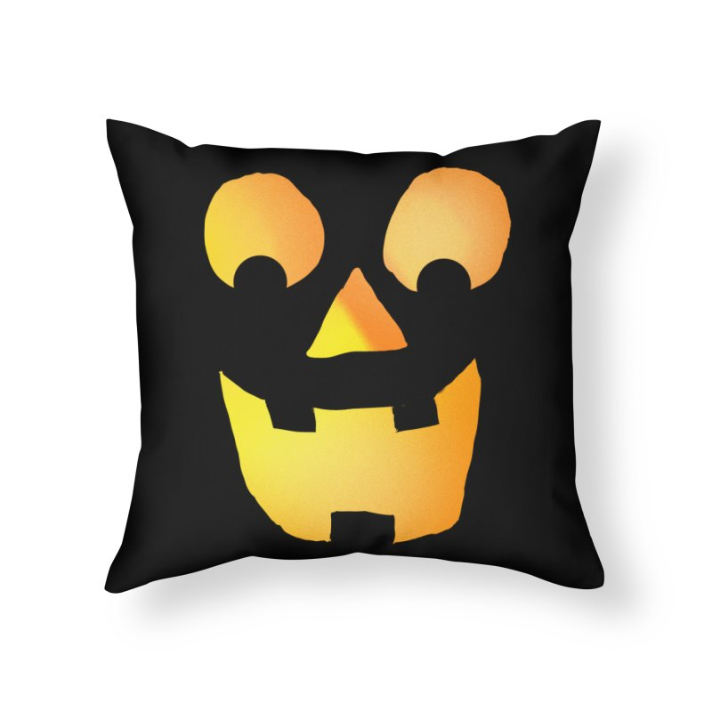 Glowing Jackolantern Face  Home Throw Pillow by ericallen's Artist Shop
