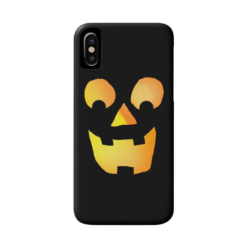 Glowing Jackolantern Face  Accessories Phone Case by ericallen's Artist Shop