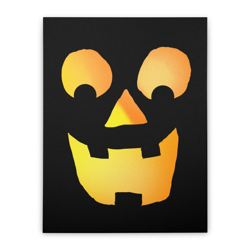 Glowing Jackolantern Face  Home Stretched Canvas by ericallen's Artist Shop