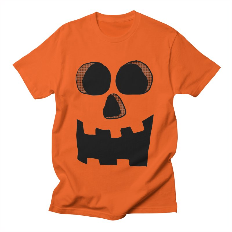 Funny Jackolantern Face in Men's T-shirt Orange Poppy by ericallen's Artist Shop