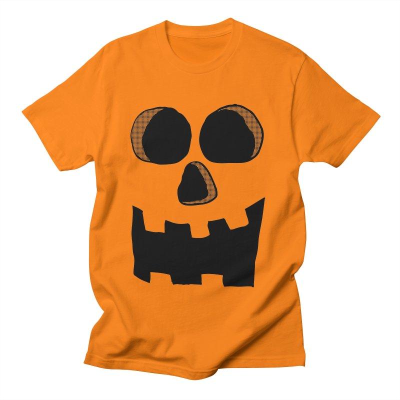 Funny Jackolantern Face Women's Unisex T-Shirt by ericallen's Artist Shop