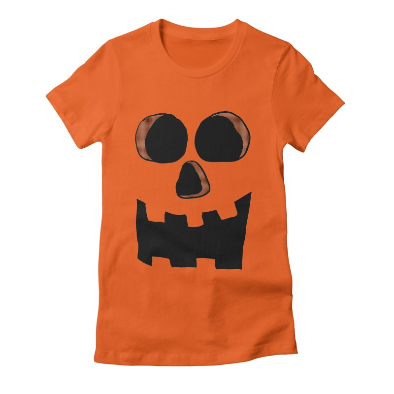 Funny Jackolantern Face Women's Fitted T-Shirt by ericallen's Artist Shop