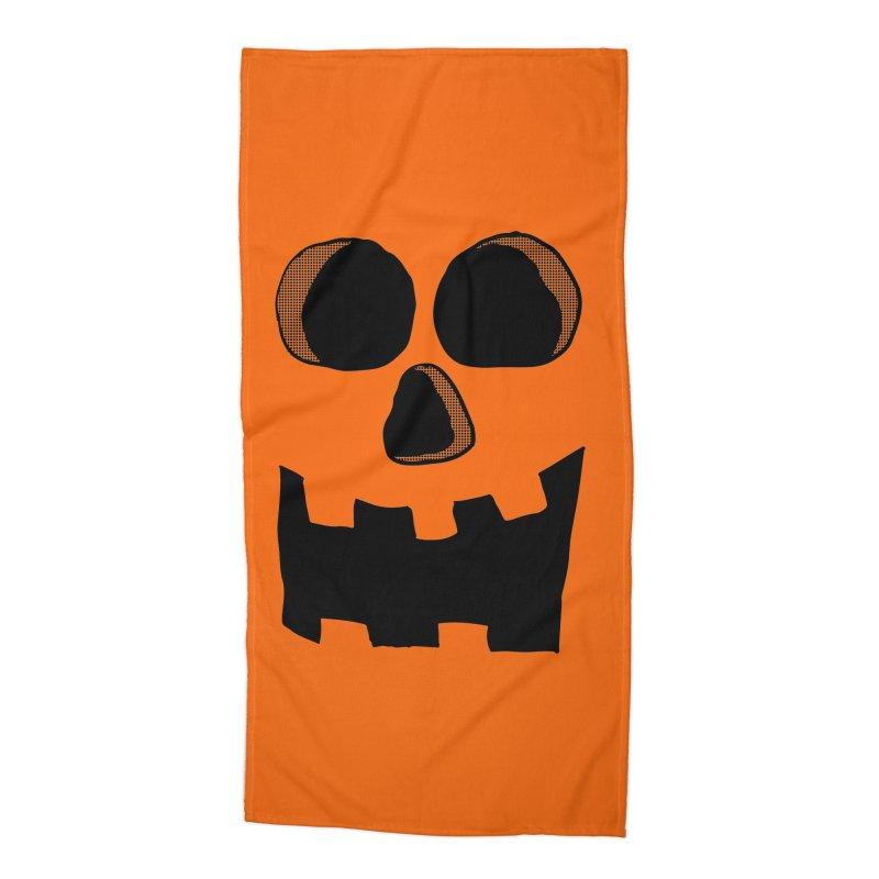 Funny Jackolantern Face Accessories Beach Towel by ericallen's Artist Shop