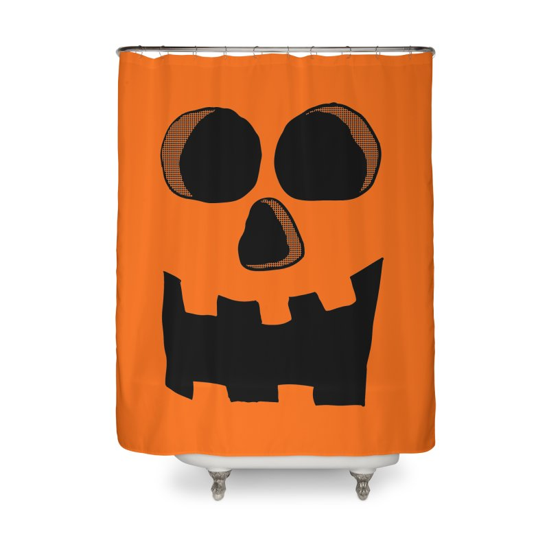 Funny Jackolantern Face Home Shower Curtain by ericallen's Artist Shop