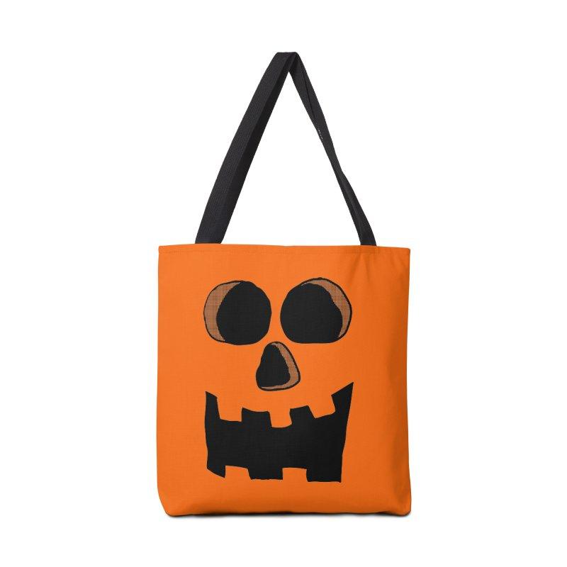 Funny Jackolantern Face Accessories Bag by ericallen's Artist Shop