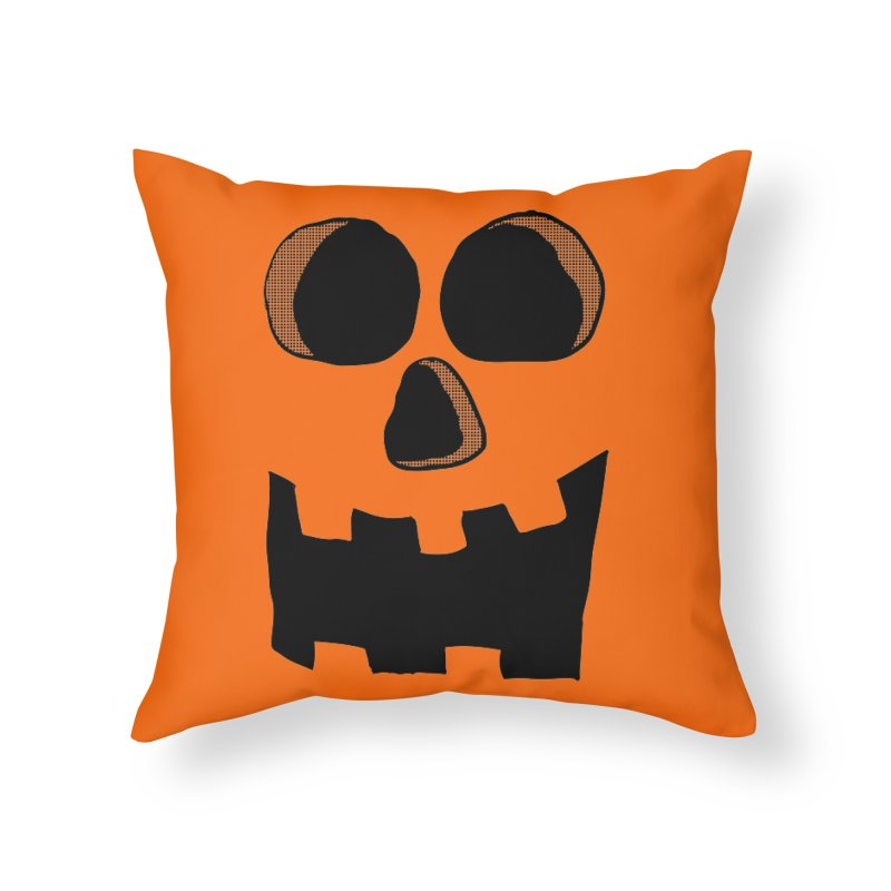 Funny Jackolantern Face Home Throw Pillow by ericallen's Artist Shop