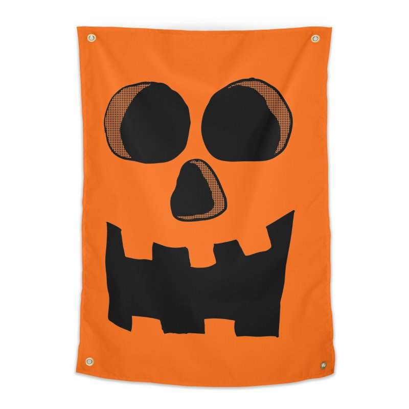 Funny Jackolantern Face Home Tapestry by ericallen's Artist Shop