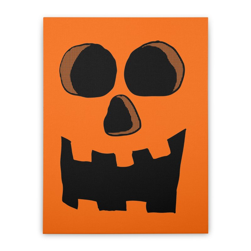 Funny Jackolantern Face Home Stretched Canvas by ericallen's Artist Shop