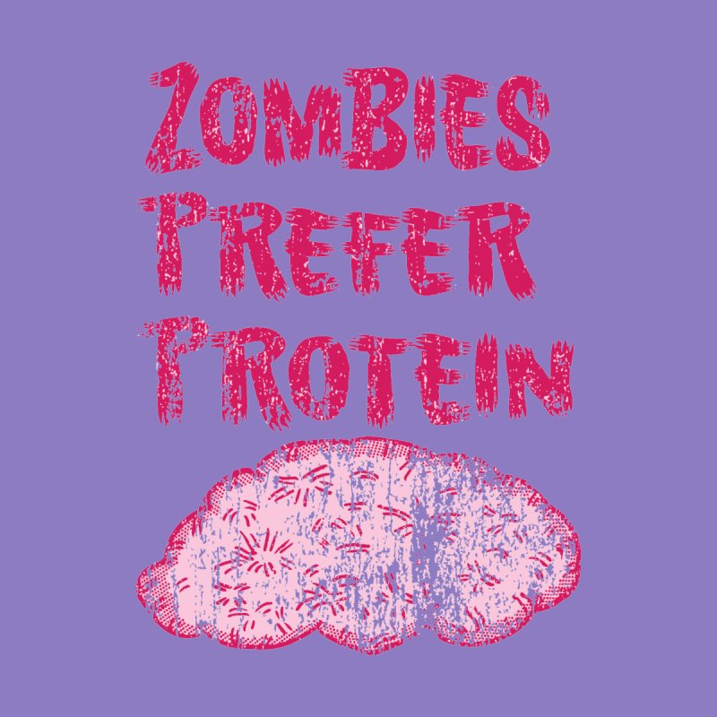 Vintage Zombies Prefer Protein Men's Triblend T-Shirt by ericallen's Artist Shop