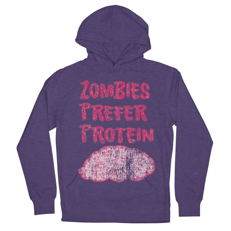Vintage Zombies Prefer Protein Men's Pullover Hoody by ericallen's Artist Shop