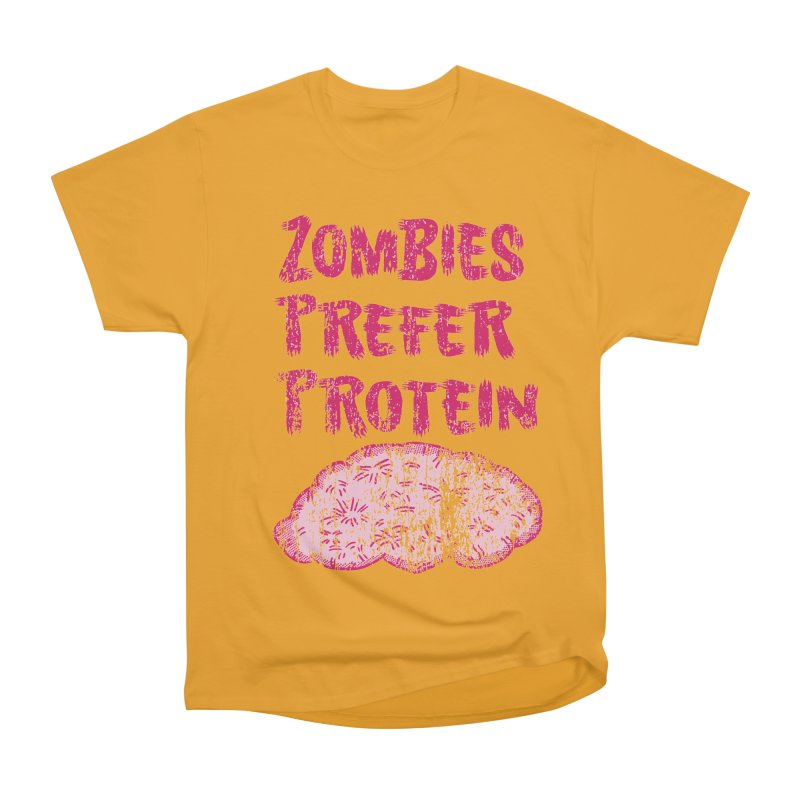Vintage Zombies Prefer Protein Men's Classic T-Shirt by ericallen's Artist Shop