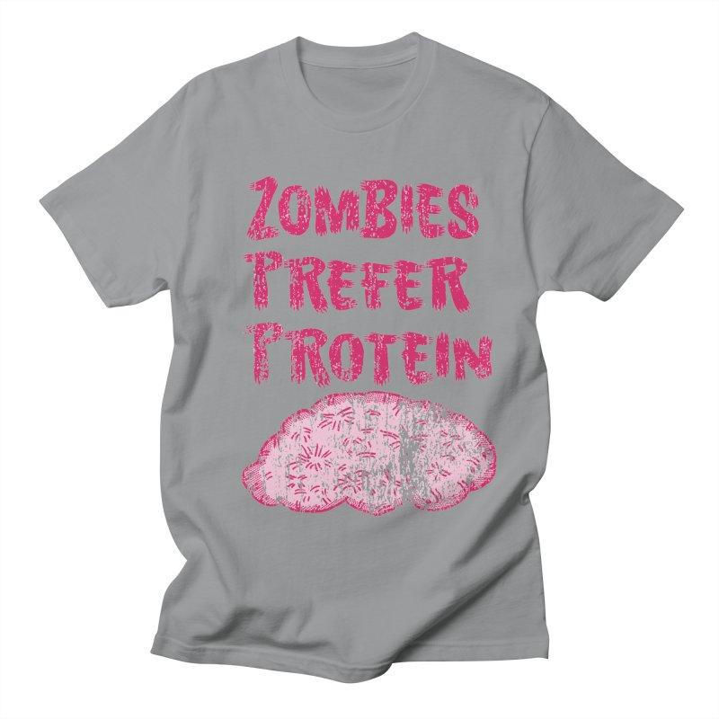 Vintage Zombies Prefer Protein Women's Unisex T-Shirt by ericallen's Artist Shop