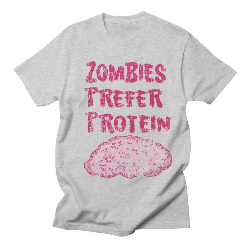 Vintage Zombies Prefer Protein Men's T-shirt by ericallen's Artist Shop