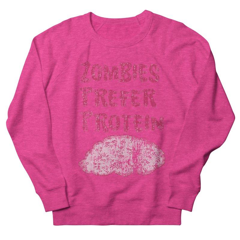 Vintage Zombies Prefer Protein Women's Sweatshirt by ericallen's Artist Shop