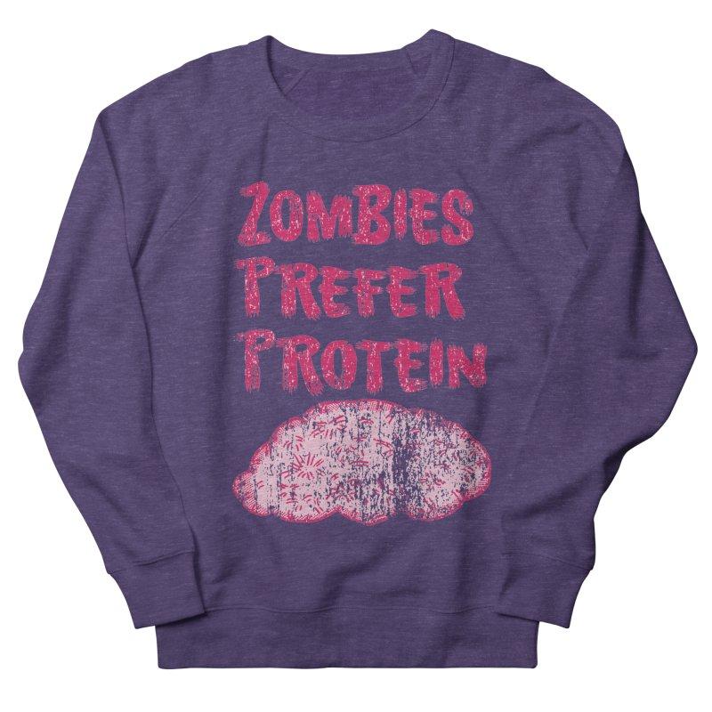 Vintage Zombies Prefer Protein Men's Sweatshirt by ericallen's Artist Shop