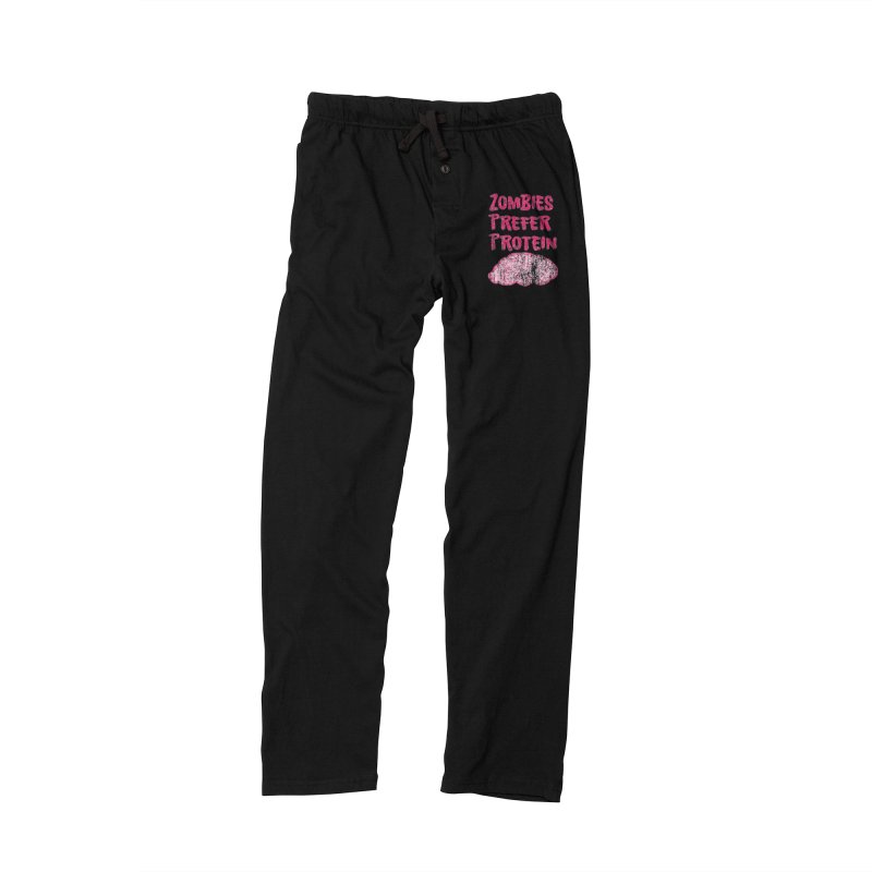 Vintage Zombies Prefer Protein Women's Lounge Pants by ericallen's Artist Shop