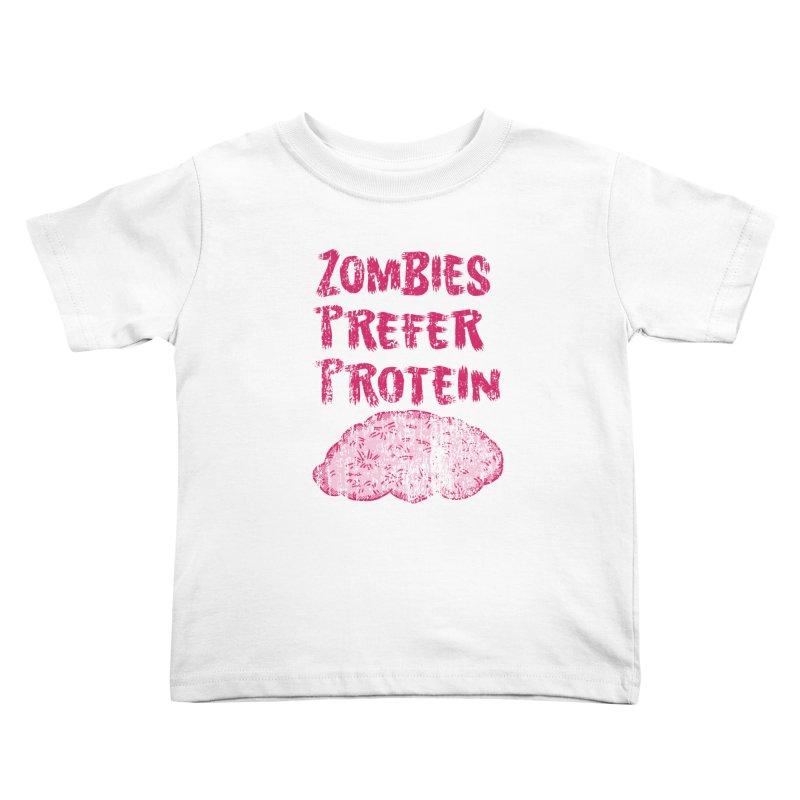 Vintage Zombies Prefer Protein Kids Toddler T-Shirt by ericallen's Artist Shop