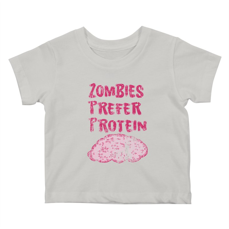 Vintage Zombies Prefer Protein Kids Baby T-Shirt by ericallen's Artist Shop