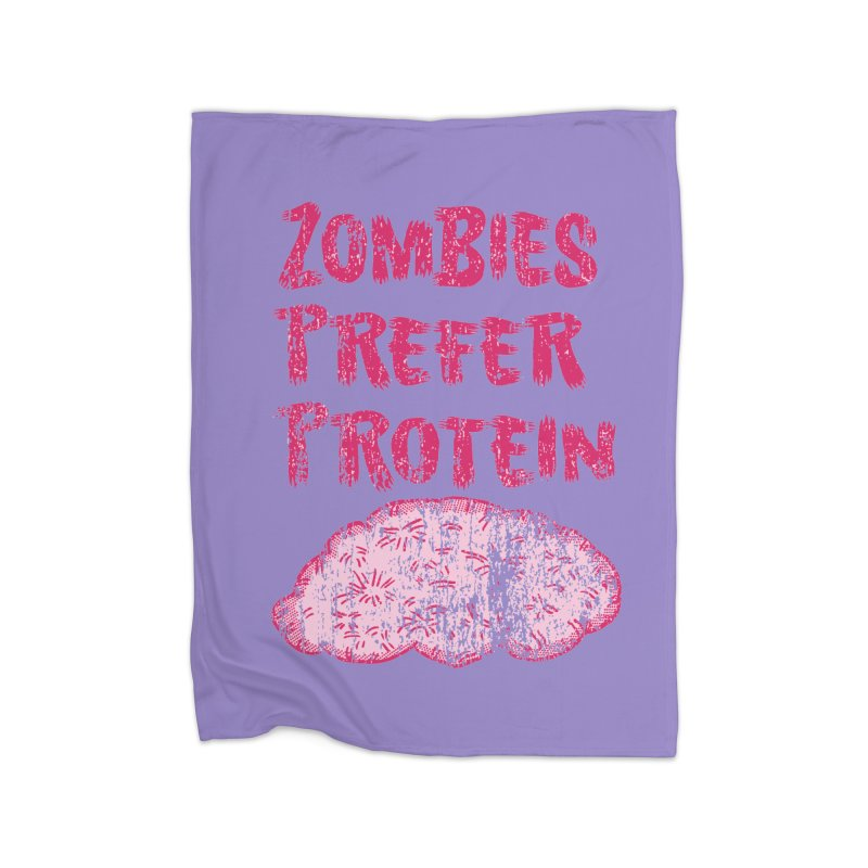 Vintage Zombies Prefer Protein Home Blanket by ericallen's Artist Shop