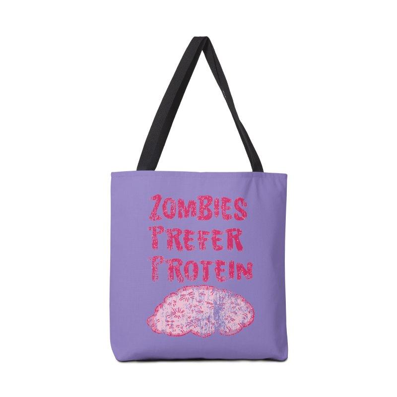 Vintage Zombies Prefer Protein Accessories Bag by ericallen's Artist Shop