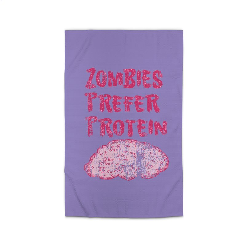 Vintage Zombies Prefer Protein Home Rug by ericallen's Artist Shop