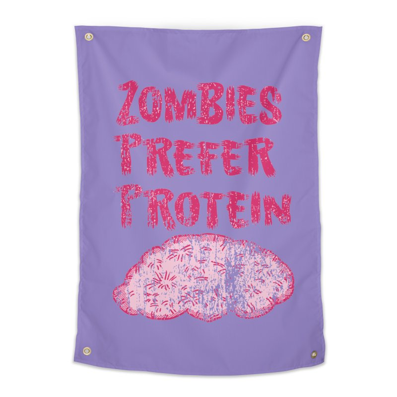 Vintage Zombies Prefer Protein Home Tapestry by ericallen's Artist Shop